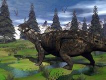 Euoplocephalus dinosaur - 3D render Royalty Free Stock Images
