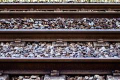 Eupean pociąg na śladzie Obraz Royalty Free