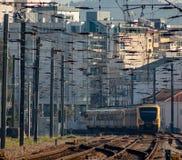 Eupean pociąg na śladzie Zdjęcie Royalty Free