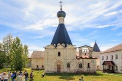 Euphemia Church del monasterio de Cyril-Belozersky Fotos de archivo