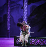 Euphemism touching song-The second act of dance drama-Shawan events of the past Stock Photo
