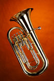 Euphonium da tuba isolado no ouro fotos de stock royalty free