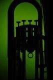 Euphonium da tuba na silhueta foto de stock
