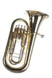 Euphonium del Tuba isolato su bianco Immagini Stock Libere da Diritti