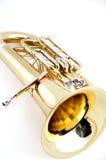 Euphonium do ouro isolado em Bk branco Fotos de Stock