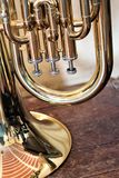 The euphonium. Of the family of metals. It belongs to the classes of the tubas of `beautiful sound` of softer and `round` timbre. Its extension is similar to Stock Image