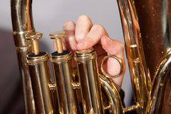 Euphonium valves Royalty Free Stock Photos