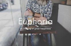 Euphoria Feeling Great Pleasure Happiness Concept Royalty Free Stock Image