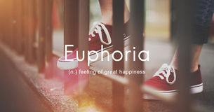 Euphoria Feeling Great Pleasure Happiness Concept Royalty Free Stock Photos