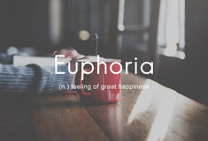 Euphoria Feeling Great Pleasure Happiness Concept Stock Photos