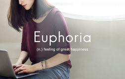 Euphoria Feeling Great Pleasure Happiness Concept Stock Photo