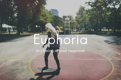 Euphoria Feeling Great Pleasure Happiness Concept Royalty Free Stock Images