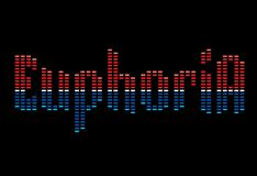 EUPHORIA LOGO. Euphoria lettering logo in the form of equalizer Stock Images
