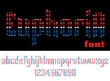 EUPHORIA - MUSIC ALPHABET. Music font in the form of equalizer Stock Image