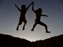 Euphoric children 1 Stock Photography