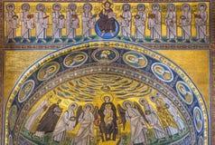Euphrasian Basilica in Porec, Istria, Croatia. Mosaic in the Euphrasian Basilica, UNESCO World Heritage, Porec, Istria, Croatia, Europe royalty free stock photos