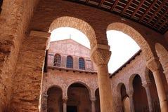Euphrasius basilica in Porec, Croatia Royalty Free Stock Images