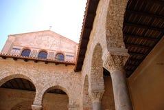Euphrasius Basilika in Porec, Kroatien lizenzfreies stockfoto