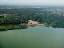 Euphrates da sopra Fotografie Stock