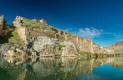 Euphrates River and Rumkale fortress Stock Images