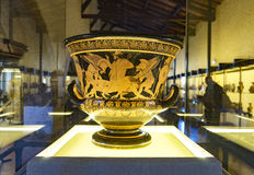The Euphronios Krater on display. Royalty Free Stock Images