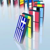 危机eupopean的多米诺作用 免版税库存照片