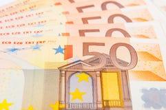 50 EUR Foto de Stock