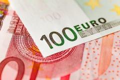 100 eur Royaltyfri Fotografi