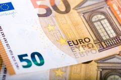 50 EUR-Banknoten Stockfotografie