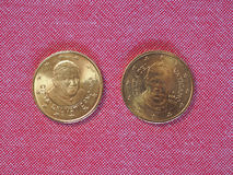 50-EUR-Cent-Münze Stockfotos