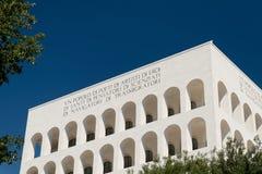 Eur, colosseo quadrato. Eur, Palazzo Civiltà del Lavoro, Colosseo quadrato royalty free stock photo