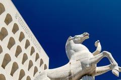 Eur, colosseo quadrato. Eur, Palazzo Civiltà del Lavoro, Colosseo quadrato stock image
