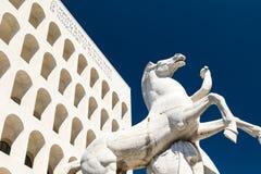 Eur, colosseo quadrato. Eur, Palazzo Civiltà del Lavoro, Colosseo quadrato stock photo