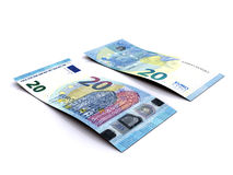 20 EUR 3D Royaltyfria Bilder