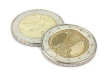 2 EUR-muntstuk Royalty-vrije Stock Afbeelding