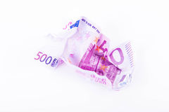 EUR 500 note crumpled Royalty Free Stock Photography