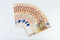 50 Eur notes. 50 eur nice notes stack Stock Image
