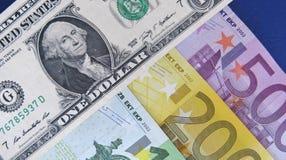 EUR/USD stockfotos