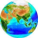 eurasia jordklot Arkivbilder