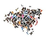 Eurasia kontynent robić buty Obrazy Stock