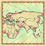 Eurasia map Royalty Free Stock Photos
