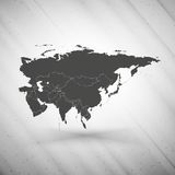 Eurasia map on gray background, grunge texture Stock Photo
