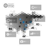Eurasia map, infographic template for business Royalty Free Stock Photography