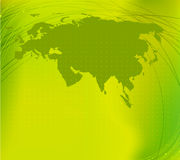 Eurasia map silhouette Stock Image