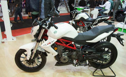 Eurasia Moto Bike Expo. ISTANBUL, TURKEY - FEBRUARY 28, 2015: Benelli TNT Tornado in Eurasia Moto Bike Expo in Istanbul Expo Center Stock Images