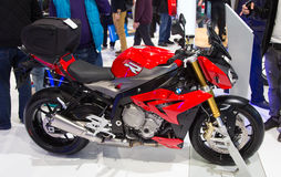 Eurasia Moto Bike Expo. ISTANBUL, TURKEY - FEBRUARY 28, 2015: BMW S1000R in Eurasia Moto Bike Expo in Istanbul Expo Center Royalty Free Stock Images