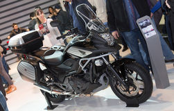 Eurasia Moto Bike Expo. ISTANBUL, TURKEY - MARCH 01, 2015: Honda NC750X in Eurasia Moto Bike Expo in Istanbul Expo Center Stock Photography