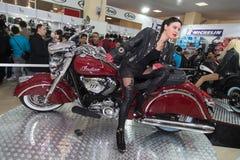 Eurasia Moto roweru expo Zdjęcia Royalty Free