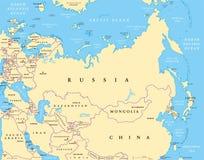 Eurasia political map Stock Photo