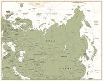 Eurasia wyszczególniał mapę Obrazy Royalty Free